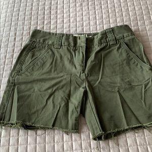 Women j crew shorts